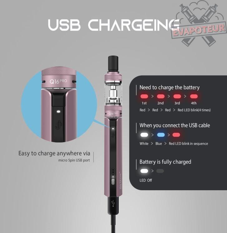 Batterie Kit Q16 Pro Justfog