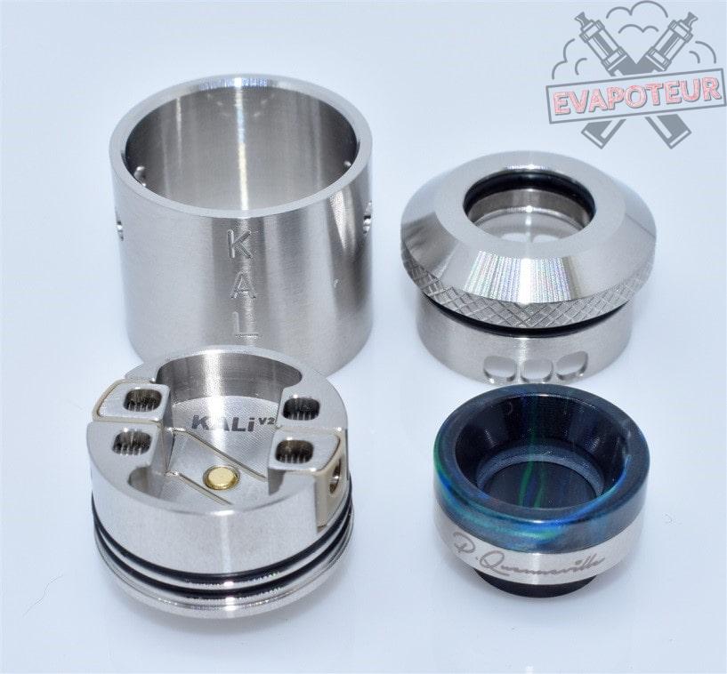Construction et design Dripper Kali V2 RDA et RSA - QP Design