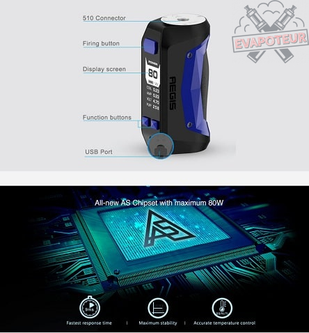 Geekvape Aegis Mini 80W TC Box MOD 2200mAh