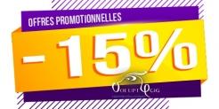 15% de remise sur Voluptycig